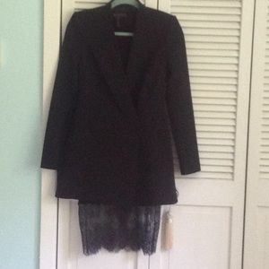 2 peices dress an coat black BCBG XXS new  $85